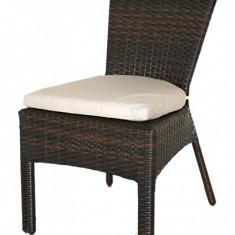 Scaun gradina, tersa KALINA BARRA din poli-ratan culoare cefea cu perna scaun gri Raki