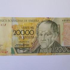 Venezuela 20000 Bolivares 2001 - bancnota america