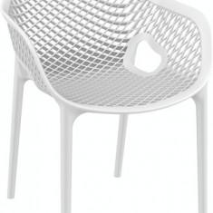 Scaun cu brate din Plastic lux AIR XL culoare alba Siesta Exlusive