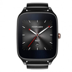 Smartwatch Asus ZenWatch 2 WI501Q Carcasa Neagra si Curea Metalica Gri