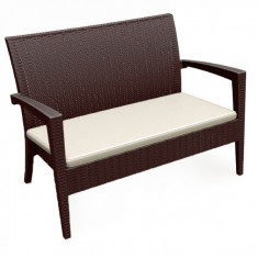 Canapea MIAMI cu brate din poli-ratan Raki