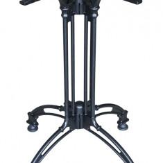 Picior, baza aluminiu pentru masa cu blat patrat sau rotund culoare neagra Raki - Articole ortopedice