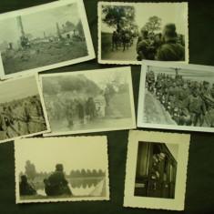 Lot foto militare germane, soldati din WH pe frontul rusesc WW 2/nazi/colectie - Fotografie veche