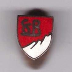 Insigna interbelica Ski Club Bucuresti, cu talpa