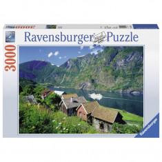 Puzzle Fiordul Sognefjord Norvegia, 3000 piese Ravensburger
