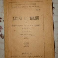 Legea lui Manu an 1920/419pagini- - Carti Hinduism