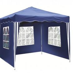 Pavilion patrat 3x3m poliester albastru cu 3 parti Raki - Pavilion gradina
