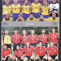 Tadjikistan 2000 sport fotbal 6 kleib. - 3 poze MNH w45 - Timbre straine, Nestampilat