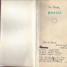 Poezii Ion Barbu ed. Albatros 1970 carte legata