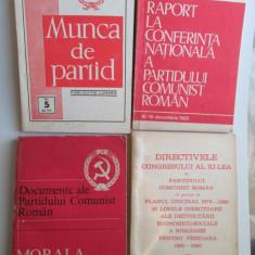 Epoca de Aur: Lot de 10 carti de propaganda / Perioada Ceausescu - Carte Epoca de aur
