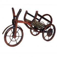 Suport pentru vin din fier forjat - bicicleta