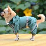 Impermeabil reflectorizant pentru câine – verde intens, S - Haina caine