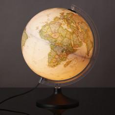 Glob geografic iluminat Carbon Executive, 30 cm, National Geographic