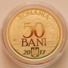 50 BANI 2017 PROOF - 10 ani de la aderarea la UE - Moneda Romania, Alama