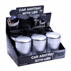 Scrumiera auto Champ cu LED pentru tigari/tutun