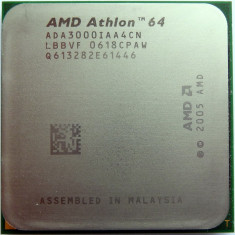 Procesor AMD Athlon 64 3000+ socket AM2 - Procesor PC AMD, Numar nuclee: 1, 1.0GHz - 1.9GHz