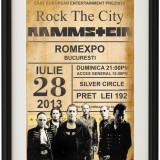 Poster Rammstein Vintage Look, Inramat A4