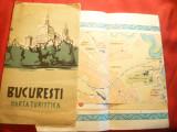 Harta turistica a Municipiului Bucuresti ONT 1957