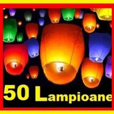 Lampioane Zburatoare Colorate 50 Buc