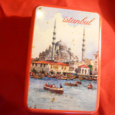 Cutie veche pt. tutun Istambul , metal si email , 9,6x6,5 cm