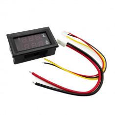 Voltampermetru Digital voltmetru Dc 0-100V ampermetru 10A cu cabluri si sunt