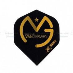 Fluturas de darts MVG, Logo negru cu auriu, Michael Van Gerwen - Fluturas Darts