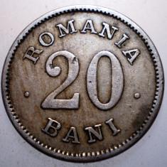 R.080 ROMANIA 20 BANI 1900 - Moneda Romania, Cupru-Nichel
