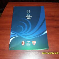 Program Supercupa Europei 2007 AC Milan - FC Sevilla - Program meci
