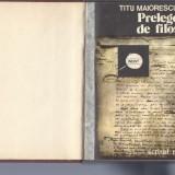 Prelegeri de filosofie Titu Maiorescu ed. Scrisul Romanesc Craiova 1980 Fr