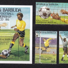 Antigua si Barbuda 1986 sport fotbal MI 925-928 + bl.106 MNH w45 - Timbre straine, Nestampilat