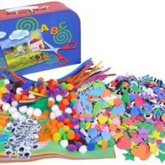 Set creativ 1500 accesorii - Jocuri arta si creatie