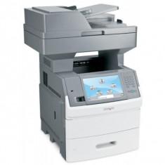 Imprimanta Multifunctionala LaserJet Monocrom, A4, Lexmark X656de, 55 pagini/minut, 275.000 pagini lunar, 1200x1200 DPI, Duplex, USB, Network, Fax,