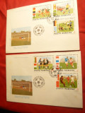 Set 2 Plicuri FDC - Campionat Mondial Fotbal - Mexic 1986 Romania