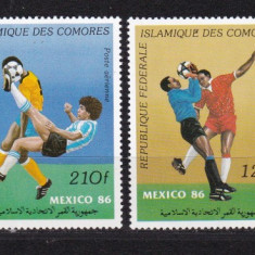Comore 1986 sport fotbal MI 777-780 MNH w45 - Timbre straine, Nestampilat