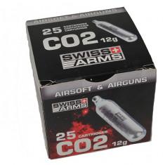 Capsule CO2 airsoft 12G – 25 bucati - Gaz Airsoft Cyber Gun
