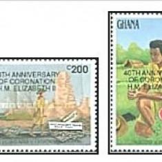 Ghana 1993 - aniversari, serie neuzata