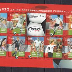 Austria 2004 sport fotbal MI 2460-2469 kleib. MNH w45 - Timbre straine, Nestampilat
