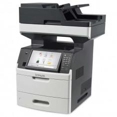 Imprimanta Multifunctionala LaserJet Monocrom, A4, Lexmark MX711de, 66 pagini/minut, 300.000 pagini lunar, 1200x1200 DPI, Duplex, USB, Network, Fax,