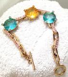 PROMOTIE- Bratara placata cu aur galben de 18k si cristale SWAROVSKI