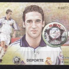 Spania 2000 sport fotbal Raul MI bl.91 MNH w45 - Timbre straine, Nestampilat