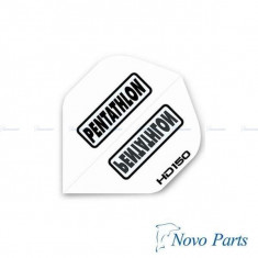 Dart flight Penthatlon HD 150, white - Set Darts