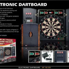 Tabla dart, DELUXE 4LED electronic ONE80 in cabinet - Dartboard