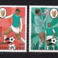 Sierra Leone 1982 sport fotbal MI 674-677 MNH w45 - Timbre straine, Nestampilat