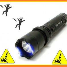 Lanterna cu Electrosoc Reincarcabila Autoaparare cu LED si cu Acumulator