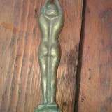 Statueta bronz masiv ardeco 20 cm inaltime . - Arta din Metal