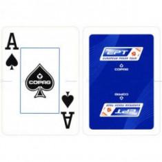 Carti poker Cartamundi EPT, COPAG albastru 100% plastic JUMBO FACE