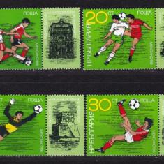 Bulgaria 1986 sport fotbal MI 3473-3478 MNH w45 - Timbre straine, Nestampilat