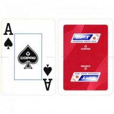 Carti poker Cartamundi EPT, COPAG, rosu, 100% plastic JUMBO FACE