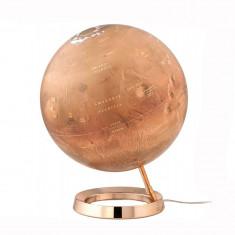 Glob iluminat planeta Marte, 30 cm, baza cupru, National Geographic
