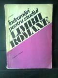 N. Mihaescu - Indrumari pentru studiul limbii romane - Vocabular si gramatica